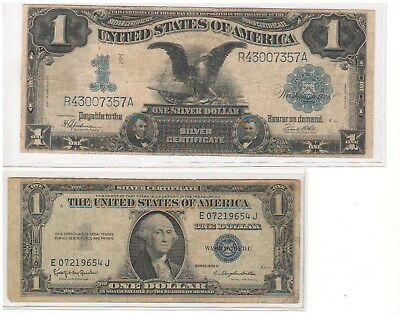 "Series 1899 ""Black Eagle"" and Series 1935 H Silver Certificates"