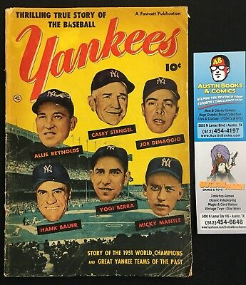 Thrilling True Story of the Baseball Yankees Comic Book - Mickey Mantle - 1952