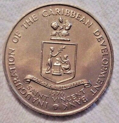 1970 SAINT VINCENT 4 Dollars KM# 13 FAO Uncirculated Cop-nic Coin Possible PROOF