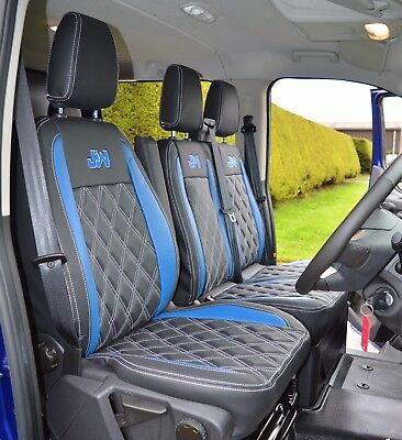 Ford Transit connect Van Seat Covers 2014-2019 Made measure Black quilted 120BK