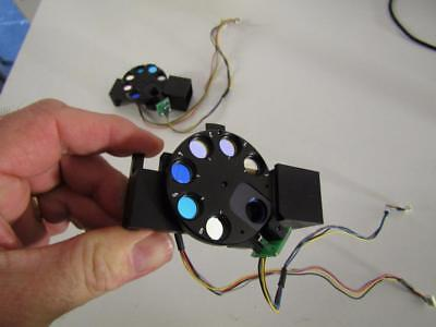 Selection Of Laser Filters Mounted On Stepper Motor Powered Wheel