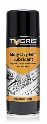 Tygris 400ml Moly Dry Film Bearings, Gears, Valves & Spindles Lubricant (R218)