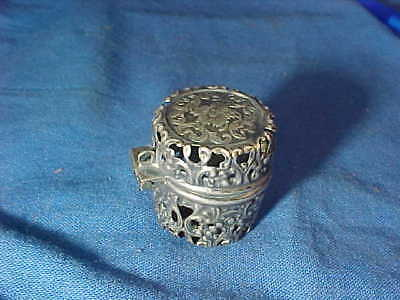 19thc VICTORIAN Era STERLING Silver Sewing THIMBLE CASE by WEBSTER Silver Co # 2