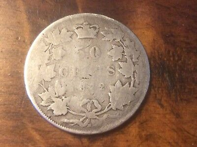 1872H Half Dollar / Fifty Cents - Silver Canadian Coin