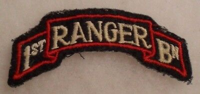 Wwii Darby's Rangers 1St Ranger Bn Scroll On Felt Original No Glow