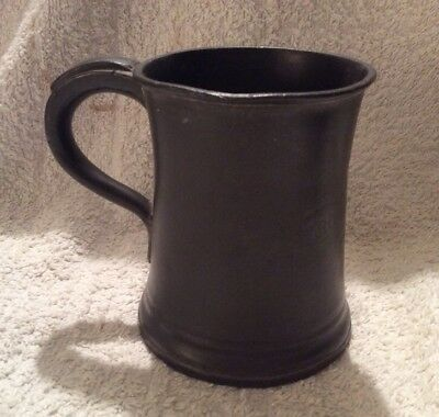 Antiqu James Yates Pewter Tankard - Half Pint - Royal Hotel
