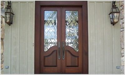 Custom Made Double Exterior Front Entry Double Wooden Glass Door - ITO DOORS