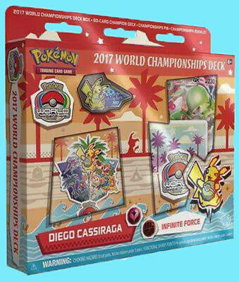 POKEMON WORLD CHAMPIONSHIP DECK INFINITE FORCE 2017 TCG Cards Pin Box Booklet