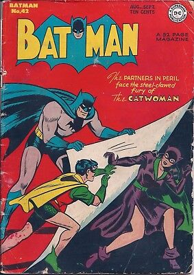 Dc Batman Comic - 52 Big Pages - Number 60 - Aug/sept 1950 (See Photos And Info)