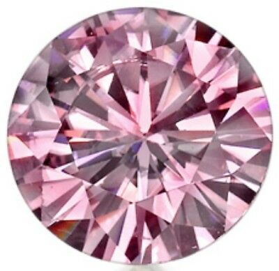 Diamant Diamond Brillantschliff 0,57 ct VVS1 Fancy Pink 5,40mm