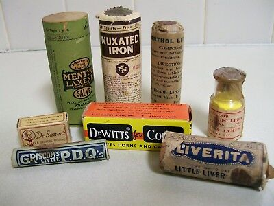 Group #1, 8 Medicine items with Contents. Low starting price.