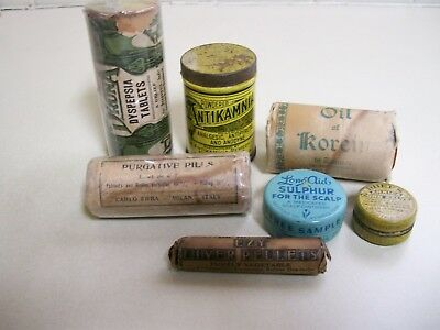 Group #3, 7 Medicine items with Contents. Low starting price!