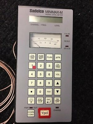 USED SADELCO MINIMAX-M CATV CABLE SIGNAL LEVEL METER with Case and power Supply