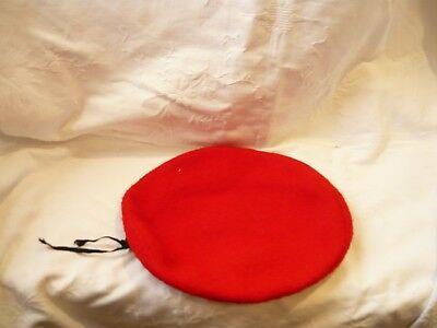 Vintage Official  Boy Scouts of America Red Beret -100% Wool- Medium  6 7/8 - 7