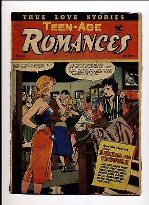Teen-Age Romances #34 Vg- 1953 St John Matt Baker Cover