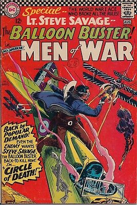 Dc Comics Lt. Steve Savage The Baloon Buster No 116, Aug 1966 - Circle Of Death