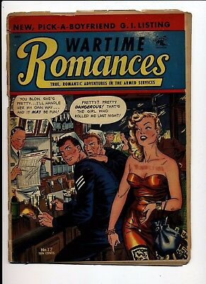 Wartime Romances #17 G/vg 1953 St John Matt Baker Cover
