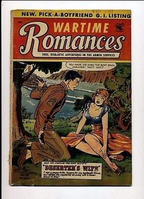 Wartime Romances #18 Vg 1953 St John Matt Baker Cover