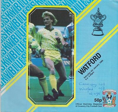 COVENTRY CITY v WATFORD FA CUP 1985/86