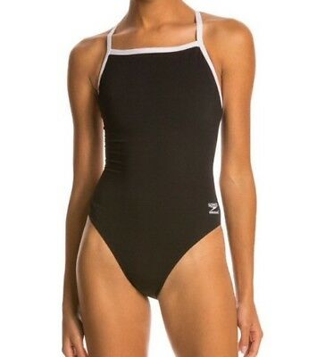 ef6002ae42 NEW SPEEDO WOMEN'S Endurance Plus Solid Flyback Training Swimsuit ...