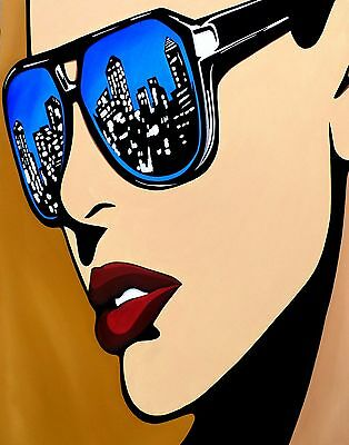 Abstract Pop Painting Modern Art Face Print decor city Urban color by Fidostudio
