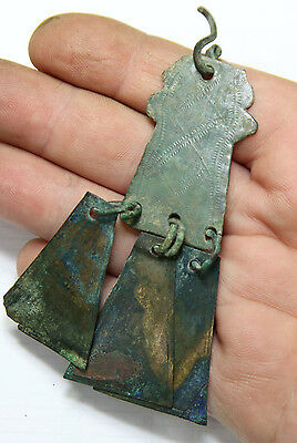 Ancient Viking Bronze pendant AMULET GREAT SAVE  amazing condition