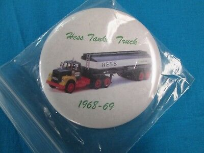 Vintage 1968-69 Hess Truck Button-Pin New