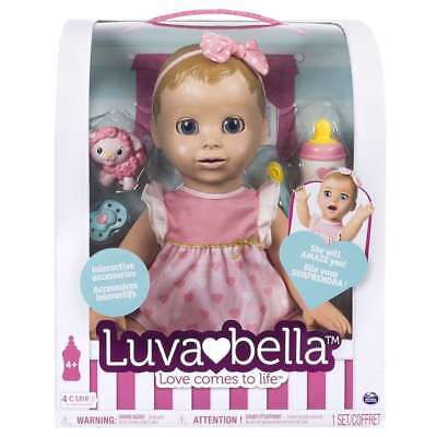 Luvabella Blonde Hair Interactive Baby Girl Doll with Realistic Movement NEW