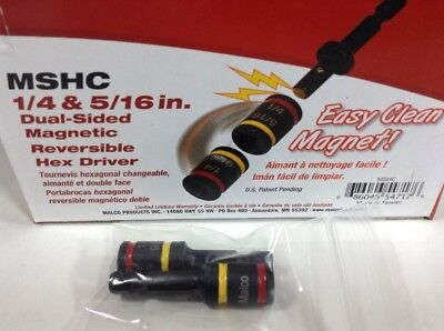 """Pack of 2 Malco Dual-Sided Reversible Hex Driver #MSHC 1/4 inch 5/16 """""""
