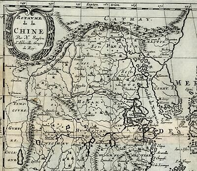 China Korea as Island Japan Philippines Asia 1699 Sanson rare map Cochin Chine