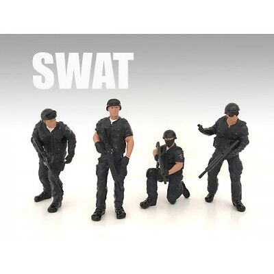 SWAT TEAM - SET OF ALL 4 - 1/18 scale figure - AMERICAN DIORAMA