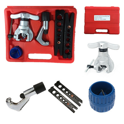 Eccentric Flaring Tool Kit Flare Copper Tube Cutter Pipe Deburing Refrigeration