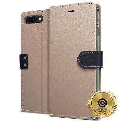 OBLIQ® iPhone 8/7/Plus [K1 Wallet] Hand Made Leather Flip Case Cover Kickstand