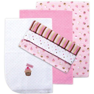 Flannel 6 Count Receiving Blankets Pink Luvable Friends Newborn Baby Infant
