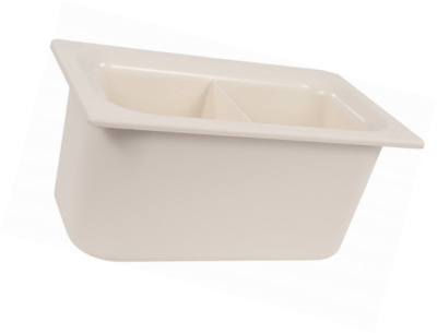 """Carlisle CM110302 Coldmaster 6"""" D Third Size Divided Insulated Cold Food Pan, 3."""