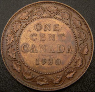 1920 Canadian Large Cent - Mustache, Full Ear and Bands on Crown, Gem Details 2