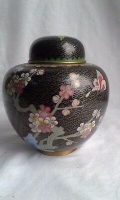 Chinese Cloisonne Ginger Jar with Lid