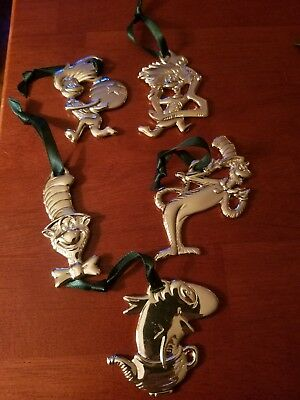 Complete Set Of 6 Dr Seuss Christmas Ornaments From Cat In The Hat Movie 2003