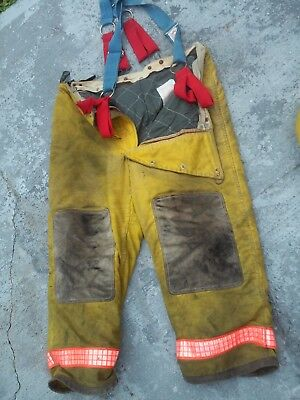 Yellow bunker fire gear pants 42/28