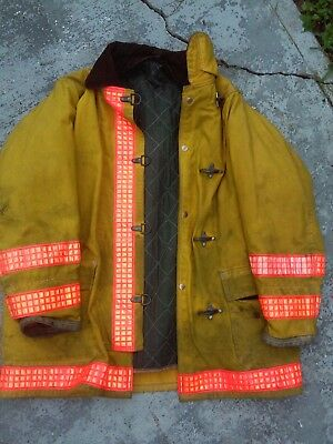 Yellow bunker fire gear coat 46/35