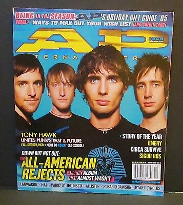 ALTERNATIVE PRESS MAGAZINE, All-American Rejects, #209 December 2005