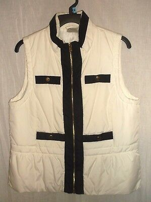 Chico's Zynergy   Zipper Vest Size 1 MEDIUM  Quilted  LIGHT WEIGHT