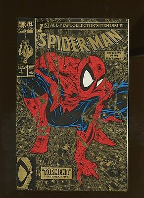 Spider-Man 1 NM 9.4 * 1 Book Lot * Gold Cover! Todd McFarlane!