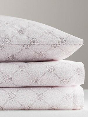 Restoration Hardware Kids Baby&Child Floral Medallion Queen Sheet Set Lilac $159