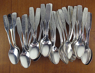 37 x Silverplate Demitasse Souvenir Spoons Noel Mothers Day + more silver Canada