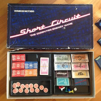PARKER Brothers SHORT CIRCUIT the Computer Energy Game RETRO BOARD