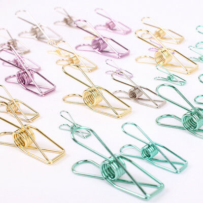 5 Pcs New Colorful Hollow Out Metal Binder Clips  Paper Clip DIY Office Supplies