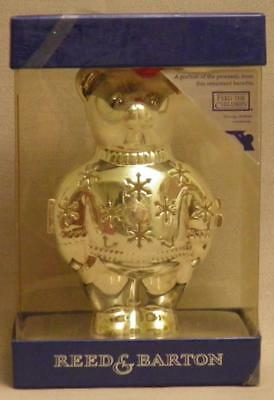 NOS Reed & Barton 2000 Teddy Bear Christmas Ornament or Gift/Candy Container