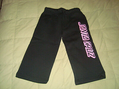 Santa Cruz SC Stripe Black Sweatpants Girls Sz. 18M NEW Cotton Sweats Pants
