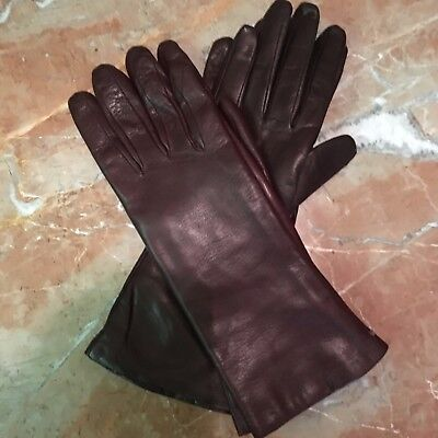 Two Pairs of NEW Soft Brown Leather Gloves Size 8